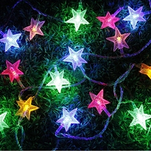 Светодиодный светильник со звездами, гирлянды с мерцающими гирляндами на батарейках, 1,2 м, 3 м, Рождественская лампа для праздника, вечеринки, свадьбы, декоративный Сказочный светильник s