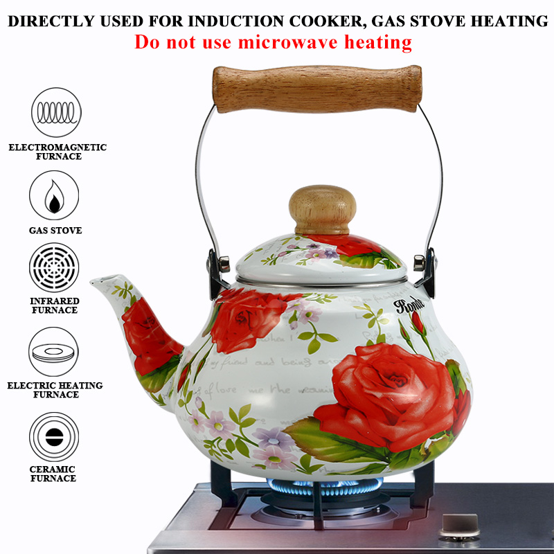 1 5L 2 0L Chinese Traditional Pot Water Kettle with Wooden Handle Flower Tea Pot for Home Kitchen Tool in Water Kettles from Home Garden
