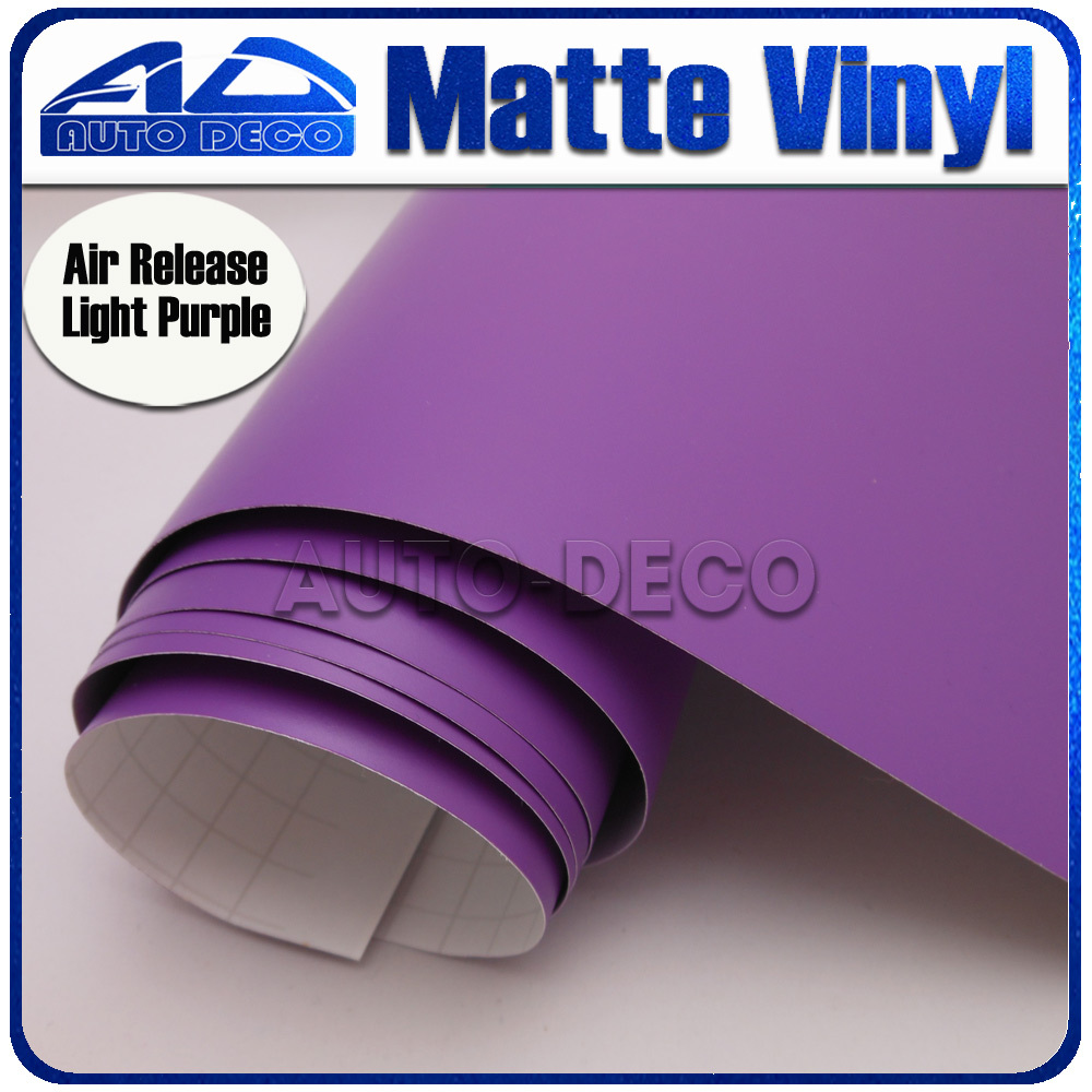 Light Purple Matte Vinyl Car Wrap Film For Car Decoration Sticker With Air Bubble Free FedEx Free Shipping light purple matte vinyl car wrap film for car decoration sticker with air bubble free fedex free shipping