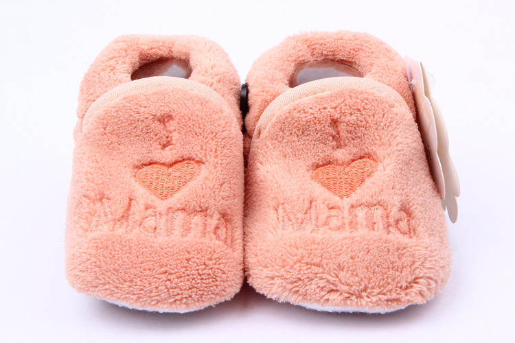 Baby Girl Boy Coral Fleece Booties Socks Shoes Slippers Newborn Toddler First Walkers