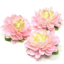 1pcs high quality 11CM silk dahlia artificial flower daisy head wedding home decoration DIY wall headdress brooch