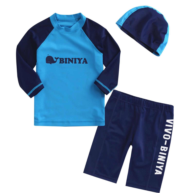 Boys Swimwear Board Shorts T Shirts Set Long Sleeve Kids Swimsuits Surfing Sailing Rash Guards Toddlers Bathing Suits 2018DBO
