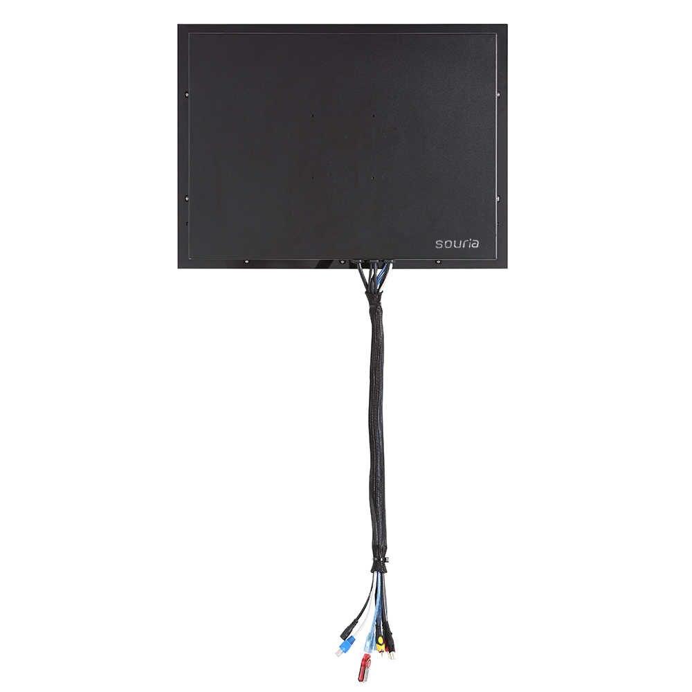 Souria 42 بوصة الحائط رصد أندرويد حمام سباحة LED التلفزيون دش الداخلية المياه برهان التلفزيون (أسود/مرآة)