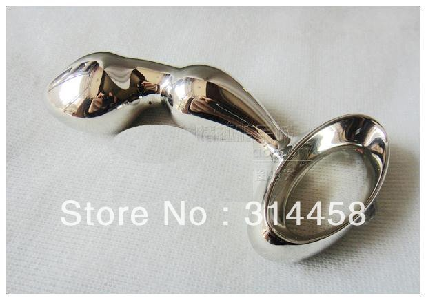 Free shipping 3*12cm stainless metal g spot anal beads plug butt plug anal sex toy for women adult toy L48