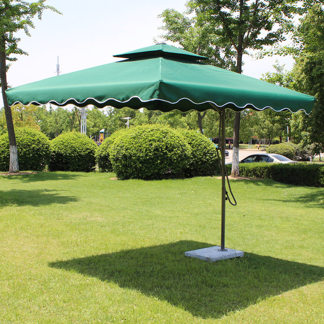 Anti  Big Umbrella Wrench Double Tripod Patio Booth Sun Umbrellas Outdoors