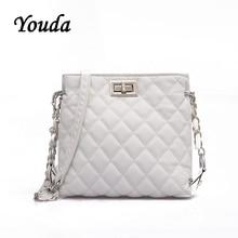 Youda Female Small Package Korean Version of the Simple Fashion Ladies Messenger Bag Shoulder Chain Rhombic Mini Bucket Bags