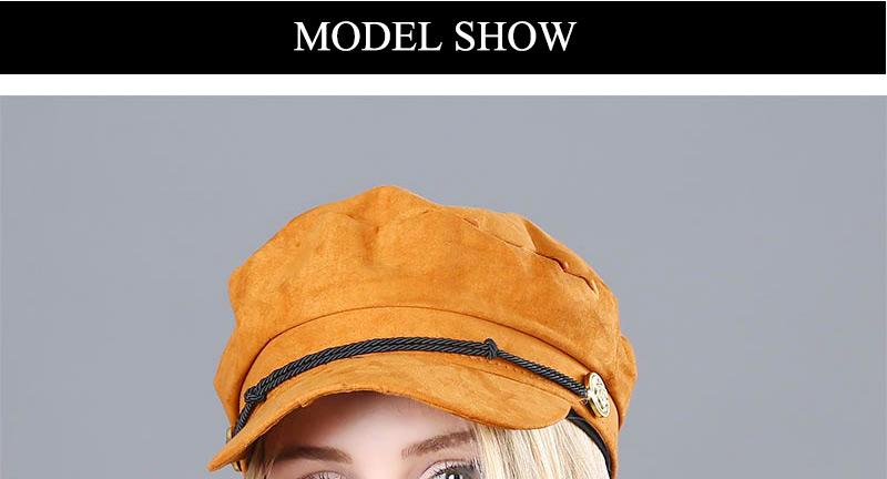 17 Autumn Octagonal Hats Flat Cap For Women Newsboy Beret Hat Female Fashion Metal Button England Style Octagonal Cap 10