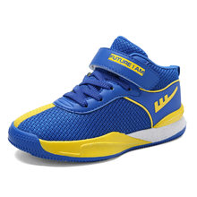 e783741e1df9 2018 Contrast Color Design Children s Basketball Shoes for Boys Trainers Girls  Sport Running Shoes Mesh Breathable