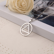 Hot-selling Eminem Favorite Necklace Star Hip-hop Style Jewelry Circle Triangle Vintage Silver Pendant Necklace  Women Men Gift