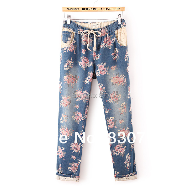Online Get Cheap Floral Printed Jeans -Aliexpress.com | Alibaba Group