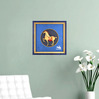 3D Framed Painting Gold Horse 24k Gold Foil Crafts Celebration opening Luxury Gifts Traditional Art Wall picture Home Decoration