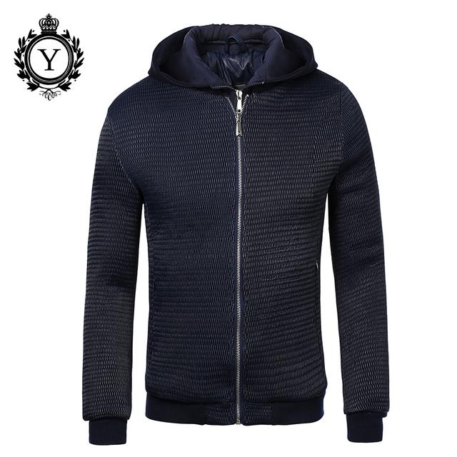 COUTUDI Elegante Jaquetas E Casaco de Inverno Quente Para Baixo Homens Jaqueta Com Zíper Sólida Blusão Com Capuz Plus Size Jaquetas de Alta Qualidade