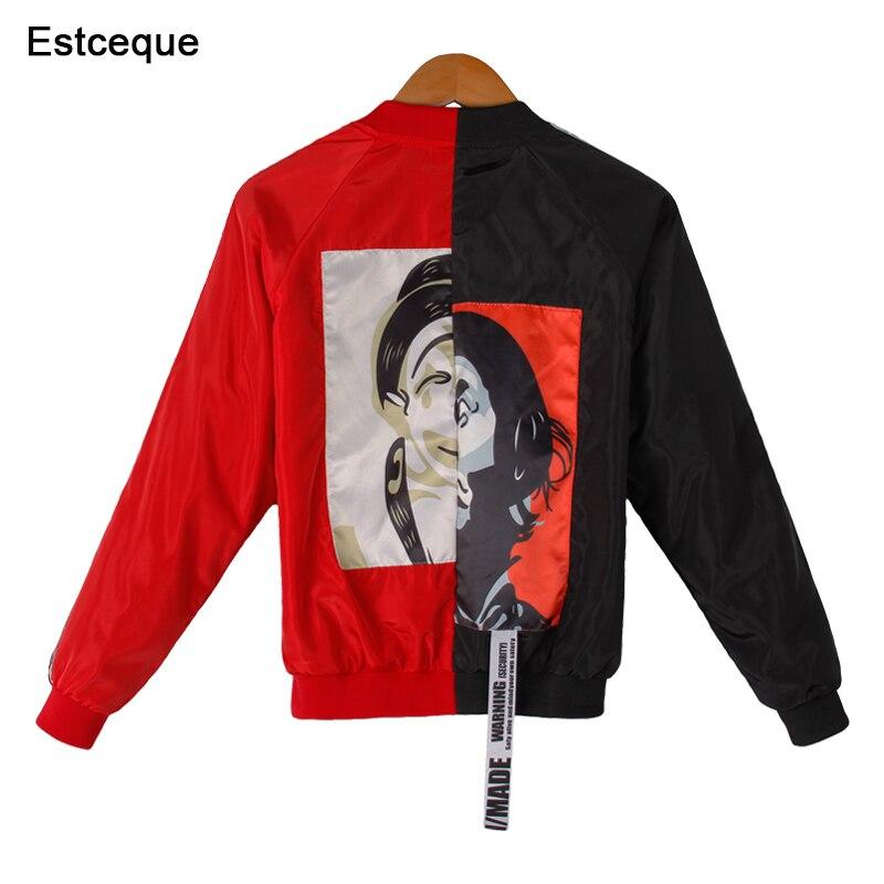 baseball Jackets Women 2018 New Fashion Womens Basic Jacket Casual Windbreaker Female Outwear Women Coat