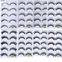 جديد 5 أزواج المنك فالس الرموش ملحقات ثلاثية الأبعاد لينة المنك الشعر طويل كاذبة جلدة Wispy رقيق أطقم فُرش توزيع الماكياج رموش العين للجمال
