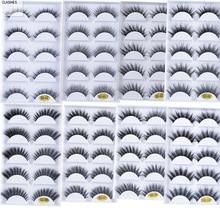 NUOVO 5 Accoppiamenti Visone Fals Ciglia estensioni 3D Morbido Visone Dei Capelli Lungo Falsi Ciglia Wispy Soffici Naturale Trucco Degli Occhi Ciglia per la bellezza