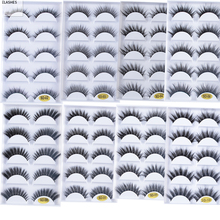 Yeni 5Pairs vizon Fals kirpik uzantıları 3D yumuşak vizon saç uzun yanlış Lashes Wispy kabarık doğal makyaj göz Lashes güzellik için