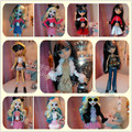 Free shipping a variety of color style for monster high school spirit doll clothes dress suits accessories