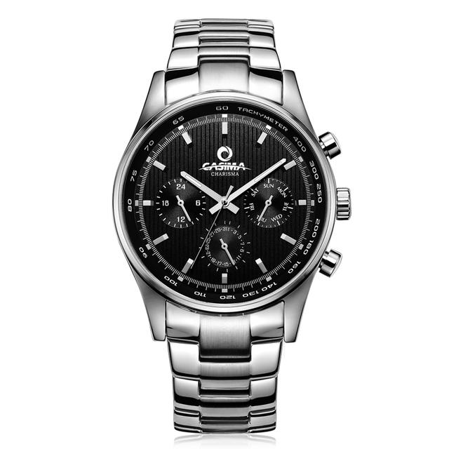 Marca de luxo relógios homens de negócios vestido clássico quartz wirst assista mens erkek kol saati casima à prova d' água #5114