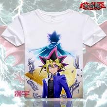 Yu-gi-oh! T-shirt de Anime Yugi muto Cosplay manga corta camiseta Seto Kaiba camiseta transpirable moda hombres mujeres camisetas