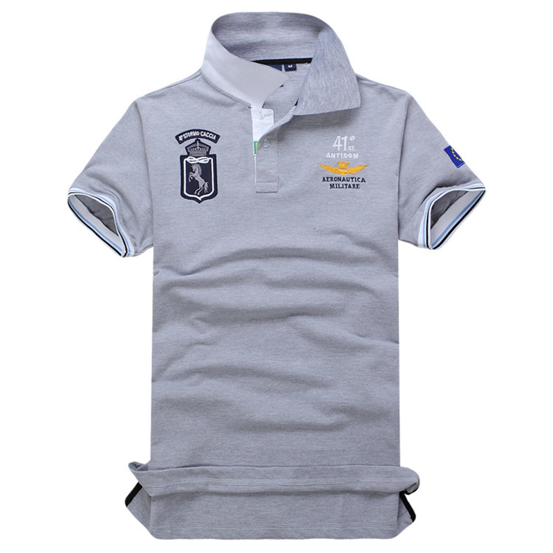 Novo 2018 Air Force one   Polo   dos homens camisa dos homens fashion business casual camisa dos homens do   polo   curto- mangas compri