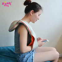 Ifory Infrared Heated Back Neck Shoulder Massager U Shape Electric Heating Kneading Therapy Shiatsu Massage & Relaxation