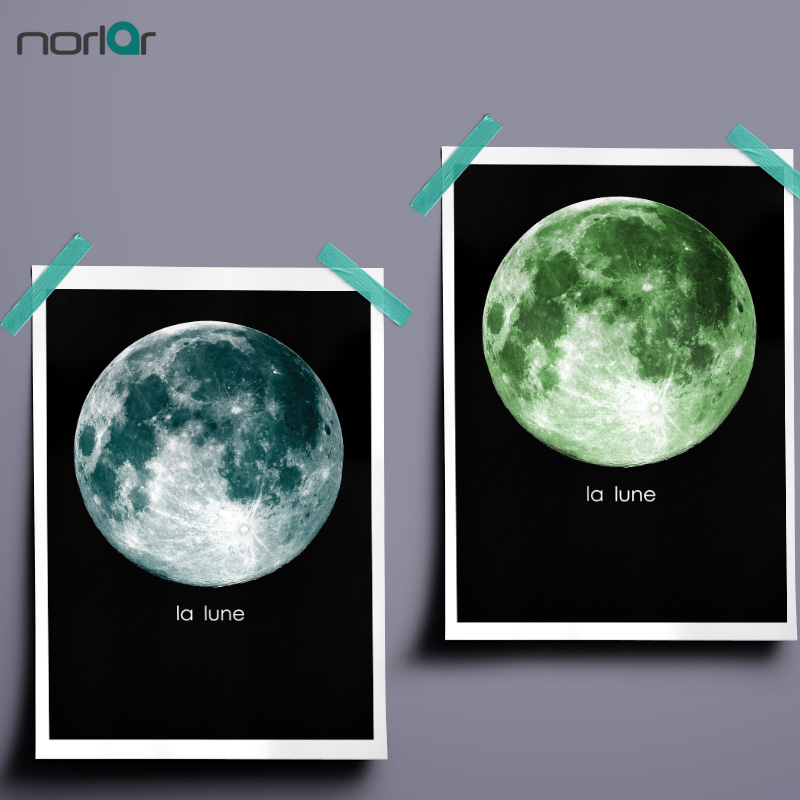 Attractive Minimalism Colorful Moon For Seven Colors Wall Decor Wall Art Canvas  Painting Wall Pictures For Living Room Nordic Decoration No