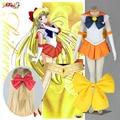 Athemis anime sailor moon minako aino/sailor venus cosplay por encargo dress alta calidad