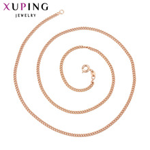 Xuping Fashion Simple Style Necklace Rose Gold Color With Environmental Copper For Women Thanksgiving Gift S91.7-44686