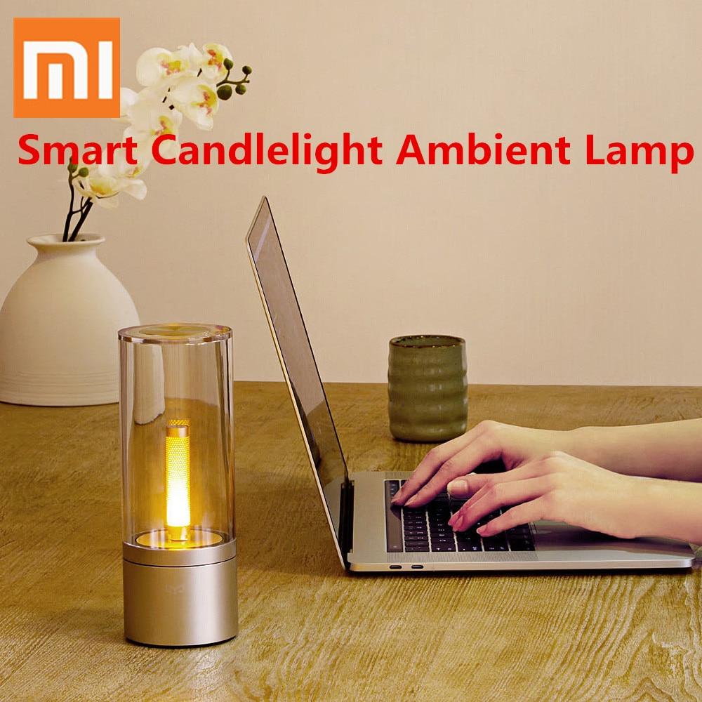 Xiaomi Mijia Yeelight умная свеча свет Крытый Yeelight ночник прикроватный светильник пульт дистанционного управления для xiaomi умный дом