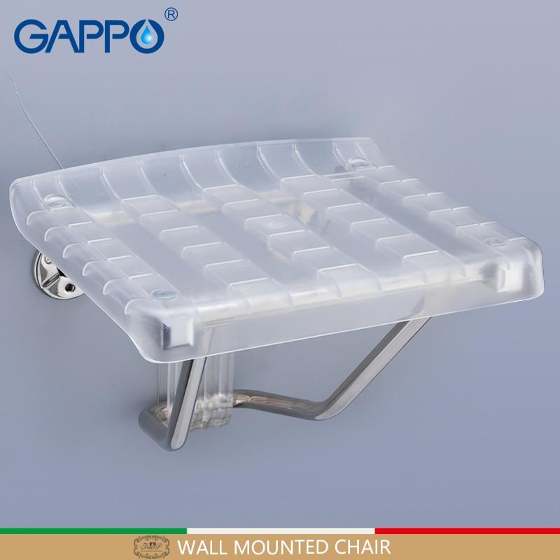 GAPPO Wall Mounted Shower Seats folding chair for child bathroom folding shower chair Bath shower Stool Cadeira bath chair