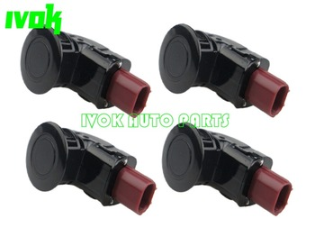 Set of (4) Parking Distance Control Sensors PDC For Honda CR-V 2.4L 04-13 Odyssey 3.5L 05-09 39680-SHJ-A61 39680SHJA61 Black