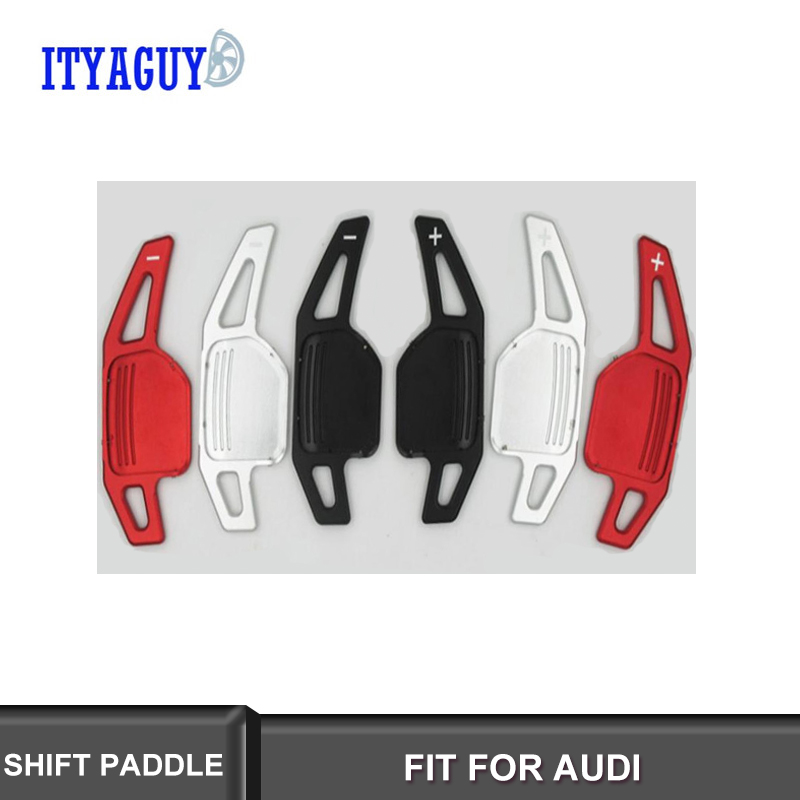 High Quality Aluminum Steering Wheel Shift Paddles For Audi A3 A4 A4L A5 A6 A7 A8 Q3 Q5 Q7 TT S3 R8 free shipping in Steering Wheels Steering Wheel Hubs from Automobiles Motorcycles