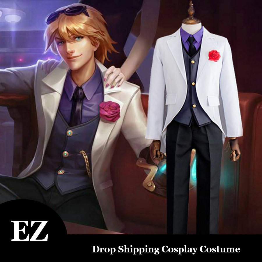 LOL Cosplay Costume EZ The Prodigal Explorer Debonair ...