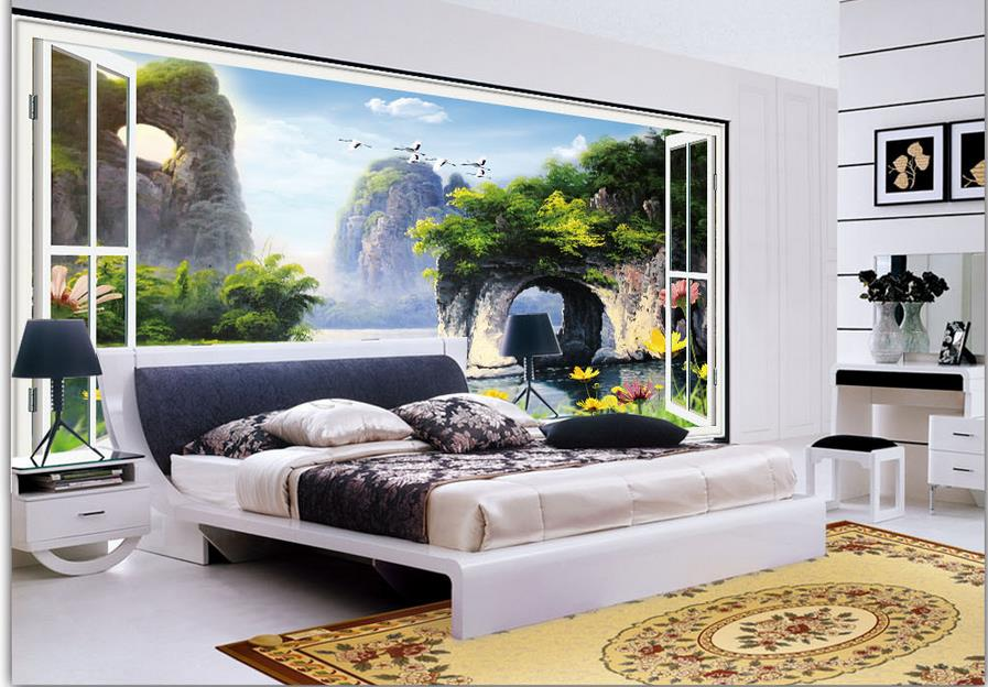 Custom 3d Wall Mural Guilin Scenery Landscape Wallpaper 3d And Hd 3d Photo Wallpaper Home Improvement Luxury Wall Decor