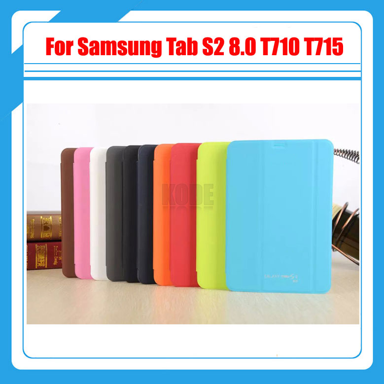 3 in 1 , PU Leather Case Stand Tablet Cover Case For Samsung Galaxy Tab S2 8.0 SM-T710 T715 T715N + Screen Film + Stylus
