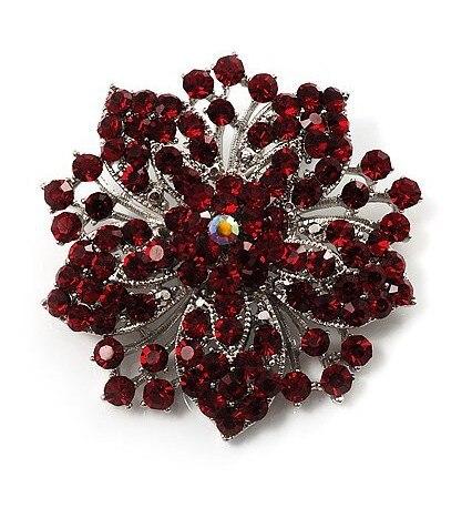 2,2 дюймов винтажная Серебряная черная Хрустальная Морская звезда, брошь для вечеринки, выпускного, ювелирные изделия, подарки - Окраска металла: 8