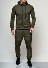 New Men's Outdoor Sports Casual Sweater Solid Color Zipper Coat