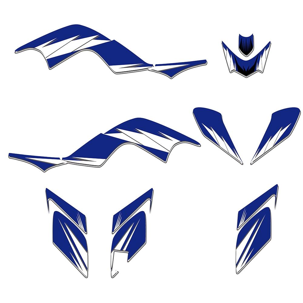 Blue New STYLE TEAM DECALS STICKERS Graphics Kits For Yamaha RAPTOR 700 YFM700 ATV 2006 2007 2008 2009 2010 2011 2012