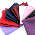 1pc Hot Fashion Mens Gift Pocket Square Dot Hankerchief Korean Silk Paisley Dot Floral Hanky Wedding Party