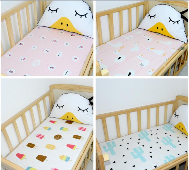 Cotton Baby Ed Sheet Cartoon Cloud Crown Crib Mattress Cover Protector Bed For