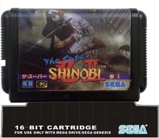 The Super Shinobi 2 - 16 bit MD Games Cartridge For MegaDrive Genesis console