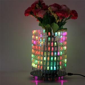 Image 4 - Светодиодный RGB светильник Dream Circle, DIY Kit, модуль музыкального спектра 8х32, электронный Точечный светильник, забавный светодиодный светильник, электронная матрица DIY
