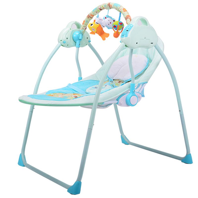 New Type Intelligent Baby Cradle Bed Electric Rocking Chair for Newborn Baby Crib Comfort Sleeping Baby Swing Remote Control C01 baby rocker newborn baby swing portable carrier rocking chair baby bouncer toddler sleeping seat rocking swing chair cradle