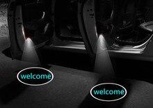 купить 2pcs LED Ghost Shadow Car projector lamp Car Door light LOGO for car  welcome light по цене 731.9 рублей