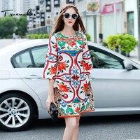 Truevoker Autumn Designer Trench Coat Women S High Quality Long Sleeve Colorful Floral Printed Diamond Beading