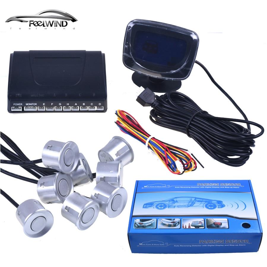 Автомобильный парковочный датчик, запасной радар, ЖК дисплей, 12 В, 8 датчиков, s, 22 мм, голосовой автодетектор, система, комплект для всех автомобилей