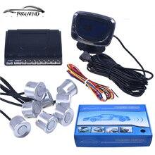 Датчик Парковки автомобилей Обратный Резервного Радар ЖК-Дисплей 12 В 8 Датчики 22 мм голос Авто Детектор Система Комплект для все Автомобили