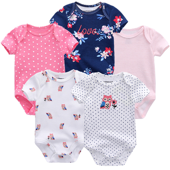 Fashion Baby boys girls clothes newborn 2018 infant baby girls body suits 5pcs jumpsuit tiny cottons baby bodysuits