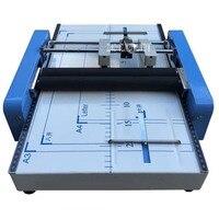Буклет машины для сшивания A3 размер брошюры степлер Бумага складной машина 2 в 1 220 В, 50 Гц 24/6 тип скобы складной машины