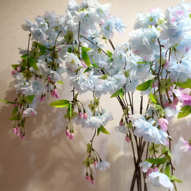 Online shop 4 forks vertical silk cherry blossom bud pear artificial 4 forks vertical silk cherry blossom bud pear artificial flower sakura bouquet wedding decoration diy cherry trees wholesale junglespirit Image collections